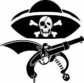 símbolo de pirataria