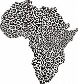 Africa in a leopard camouflage