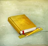 Schoolbook, old-style vector