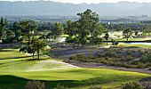 Golf course in Phoenix, AZ, concept image regarding desert water issues