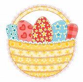 Easter Basket On White.
