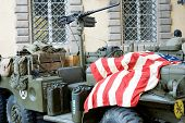 Military Vehicle And Equipment American Flag