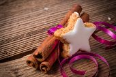 Cinnamon Sticks And Christmas Cake