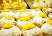 foto of irresistible  - Detail of many Venetian pastries traditional Italian muffin - JPG