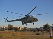 Military Helicopter Landing poster
