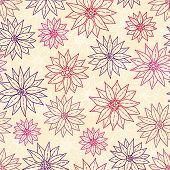 Seamless Pattern Graphic Flowers.