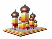 stock photo of mumtaj  - 3D illustration of the Taj Mahal isolated over white - JPG