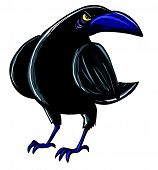Cartoon Of Evil Black Crow