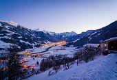Ski resort at night