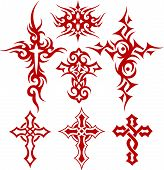 tribal cross tattoo symbol