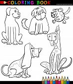 picture of newfoundland puppy  - Coloring Book or Page Cartoon Illustration of Funny Dogs or Puppies for Children - JPG