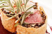 foto of beef wellington  - Fillet Wellington with fresh herbs - JPG
