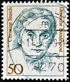 GERMANY - CIRCA 1986: a stamp printed in Germany shows Christine Teusch Minister of Educations and C