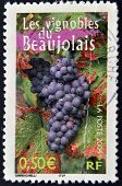 FRANCE - CIRCA 2004: A stamp printed in France shows the vineyards of Beaujolais circa 2004
