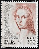 ITALY - CIRCA 1998: A stamp printed in Italy shows a fragment of painting