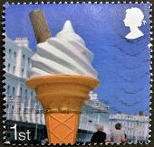 UNITED KINGDOM - CIRCA 2007: A stamp printed in Great Britain dedicated to Beside the Seaside shows