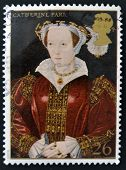 UNITED KINGDOM - CIRCA 1997: A stamp printed in Great Britain shows Catherine Parr wife of Henry VII