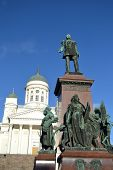 Statue of Russian czar Alexander II, Helsinki