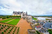 image of chateau  - Chateau Amboise is a major tourist attraction in Loire Valley - JPG