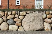 Frisian Stone Wall With A Fresh Layer Of Soil