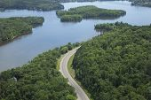 Aerial View Of Mississippi River In Northern Minnesota