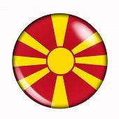 Button Flag Of Macedonia