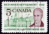 Postage stamp Canada 1962 Scottish Settler and Lord Selkirk