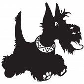 picture of scottie dog  - cartoon dog - JPG