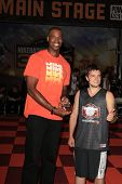 LOS ANGELES - AUG 9:  Jason Collins, Josh Hutcherson at the Josh Hutcherson Celebrity Basketball Gam