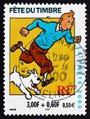 Postage Stamp France 2000 Tintin, Comic Character