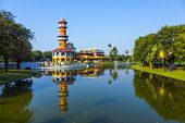 The Royal Residence And Sages Lookout Tower (ho Withun Thasana) Of The Thai Royal Summer Palace Of B