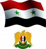 Syria Wavy Flag And Coat