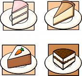 Kuchen-Illustrationen-Satz