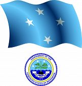 Micronesia Wavy Flag And Coat