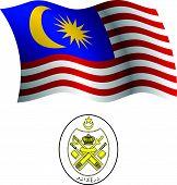 Malaysia Wavy Flag And Coat