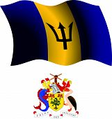 Barbados Wavy Flag And Coat