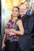 LOS ANGELES - AUG 12: Jared Harris, wife Allegra Riggio at the premiere of 'The Mortal Instruments: