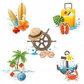 5 highly detailed travelling icons