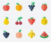 fruit set �¢�?�? flat design