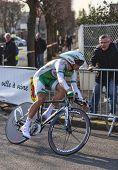 The Cyclist Simon Julien- Paris Nice 2013 Prologue In Houilles