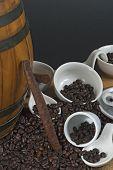 Sigari Tra Chicchi Di Caffe