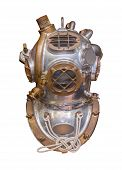 Antique deep sea diving helmet