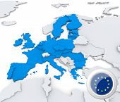 European Union On Map Of Europe