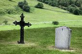 picture of headstones  - Two graves - JPG