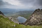 View From Top Of Cadair Idris Looking To Llyn Y Gader Landscape