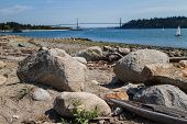 Lions Gate Bridge - Rocks Foreground