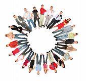 Crowd People Circle Sun Form Collage