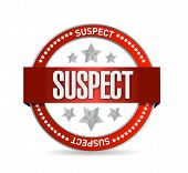 Suspect Seal Illustration Design