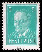 ESTONIA - CIRCA 1936: A stamp printed in Estonia shows first president Konstantin Pats, circa 1936