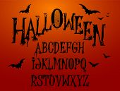 Alfabeto de Splash de Halloween para seu projeto